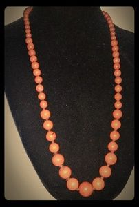 Vintage Hand-Knotted Semi-Precious Stone Necklace